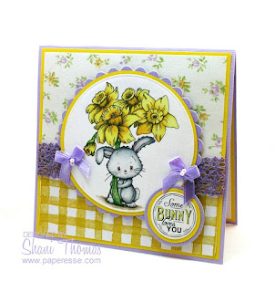 Di's Digistamps Daffodil Delivery Easter card, design by Paperesse.