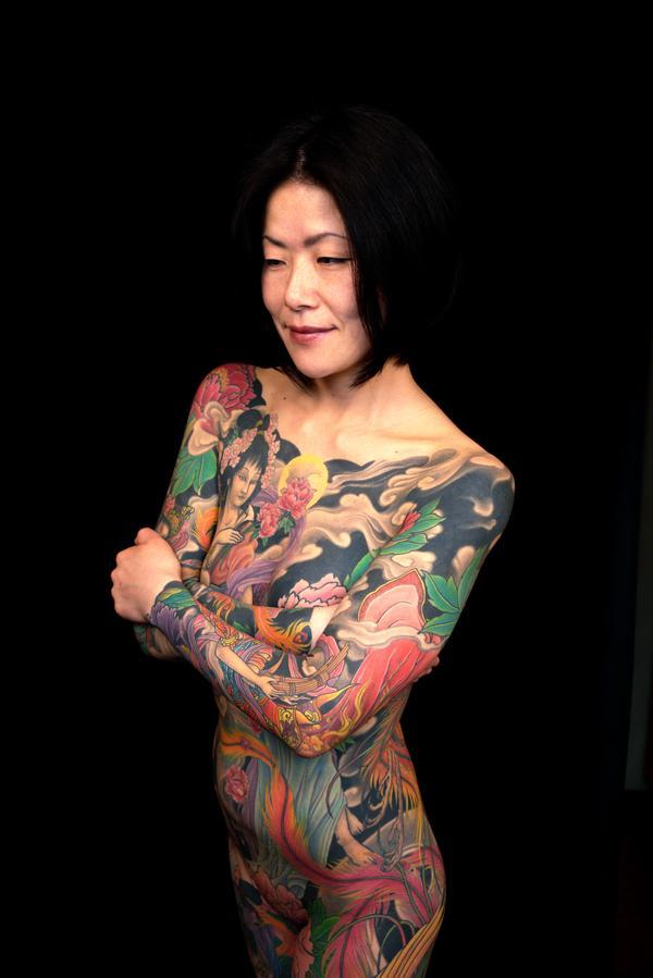 full body woman Japanese tattoo