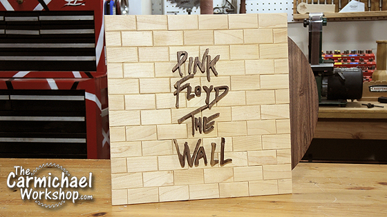 pink floyd the wall album art wood