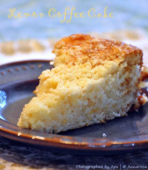 Annarasa Essence Of Food Lemon Coffee Cake Eggless Baking