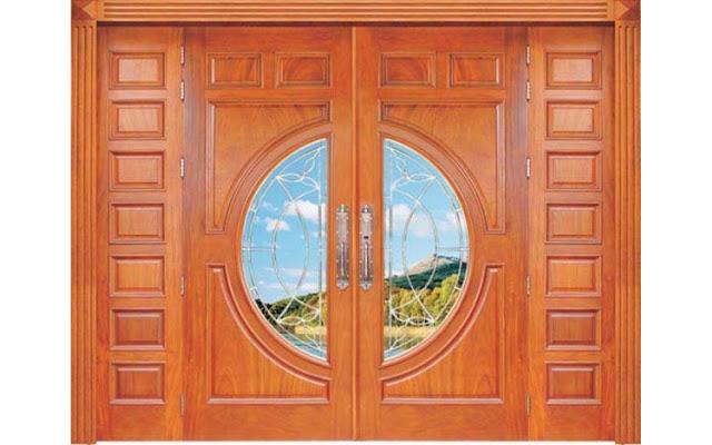 cửa gỗ căm xe- mẫu 4