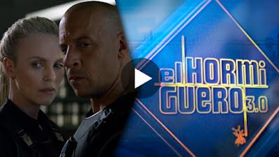 Visita de Vin Diesel y Charlize Theron a El Hormiguero 6 abril
