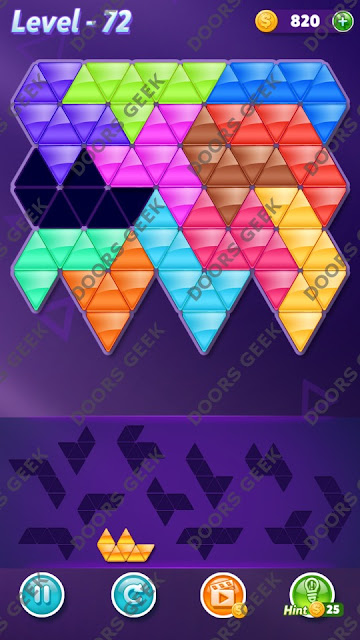 Block! Triangle Puzzle Grandmaster Level 72 Solution, Cheats, Walkthrough for Android, iPhone, iPad and iPod
