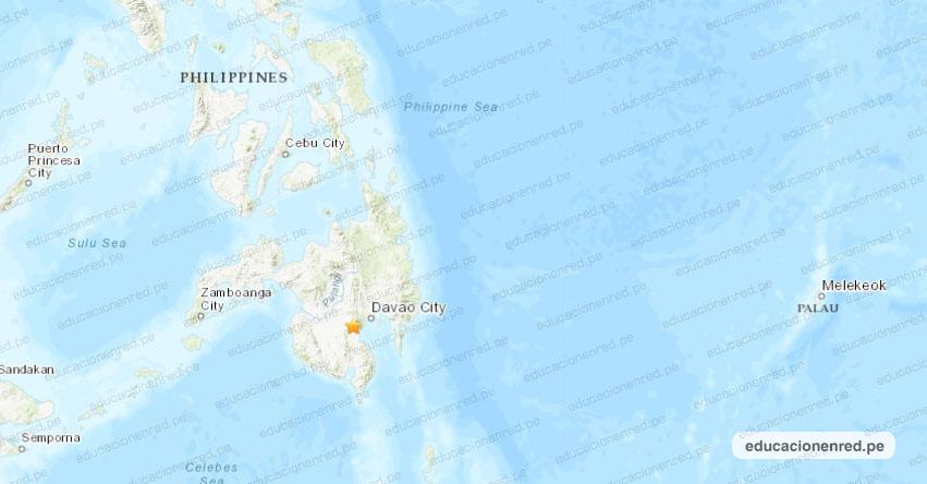 Terremoto en Filipinas de Magnitud 6.8 - Alerta de Tsunami (Hoy Lunes 28 Octubre 2019) Sismo - Temblor - Epicentro - Philippines - Bual - Mindanao - Polomolok - Cotabato Sur - USGS - www.earthquake.usgs.gov
