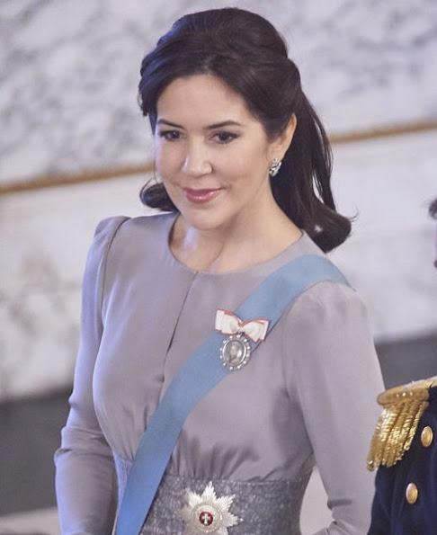 Crown Princess Mary wore Ole Yde skirt, Ole Lynggaard skirt, Baum und Pferdgarten skirt