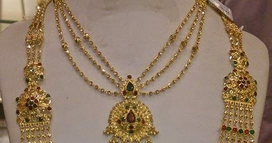 Chandra Haram And Simple Necklace