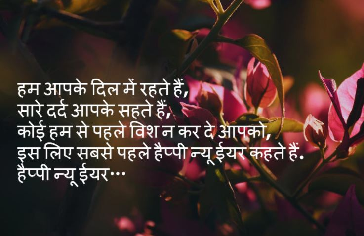 Unique happy new year images 2020 in hindi shayari photo hd