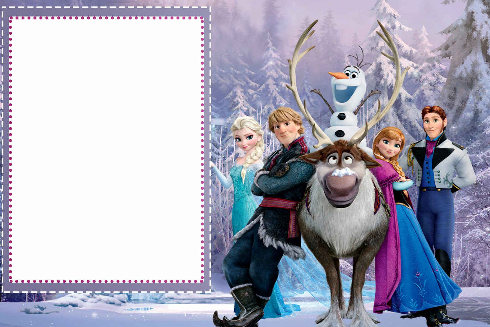 Bewitching image with frozen birthday card printable