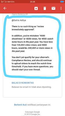 4000 Jam Tayang di Youtube Tidak Penting