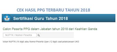 Hasil PPG 2018, Cek Disini !