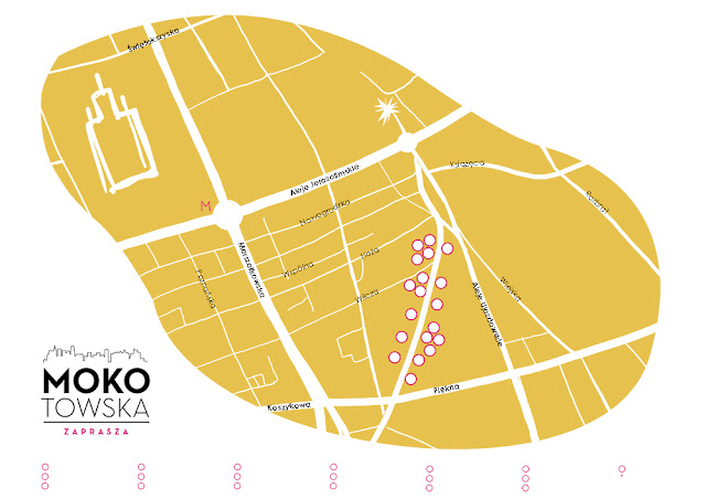 mapa ilustracja urbaniak warszawa