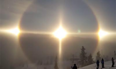 Impresionante Halo solar en Suecia