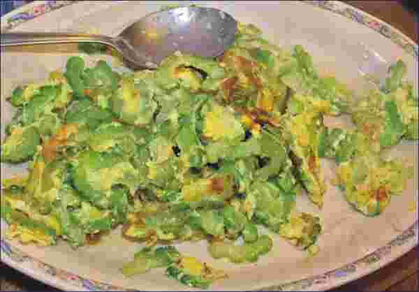 bitter cucumber with eggs recipe