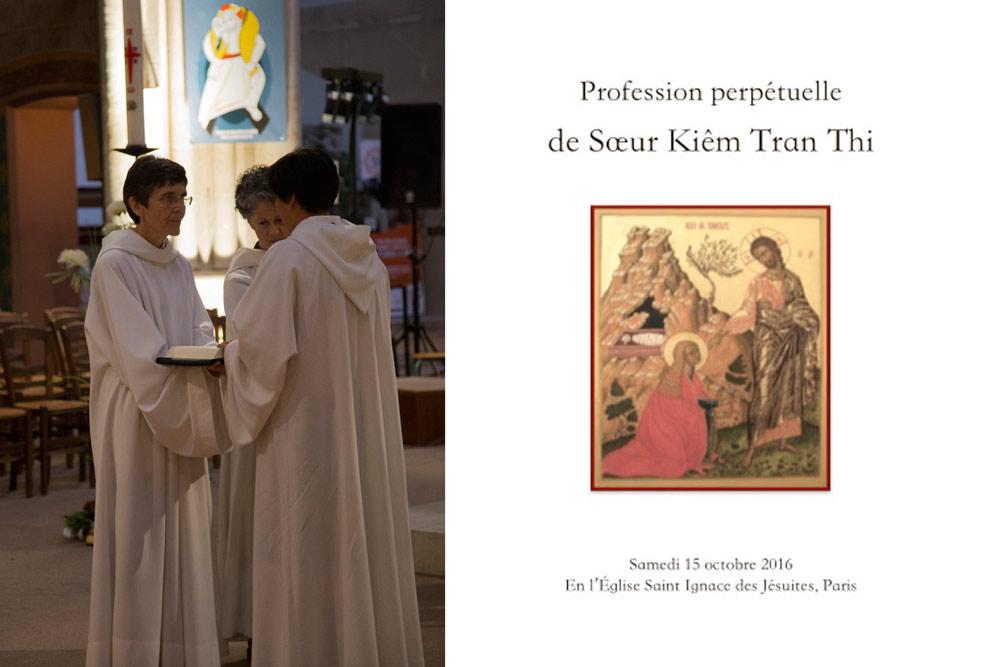 Profession perpétuelle de sœur Kiêm Tran Thi