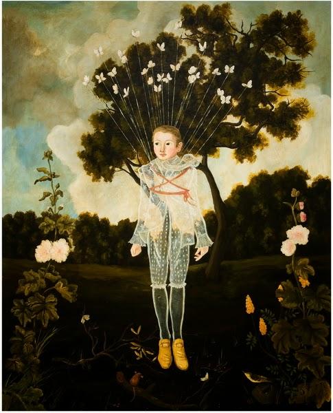Voo da Borboleta - Anne Siems e suas pinturas com figuras transparentes