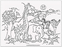 zoo animal coloring pages for preschool
