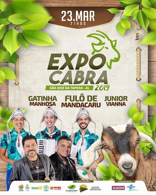 Em São José da Tapera, shows de Fulô de Madacaru, Gantinha Manhosa e Junior Vianna encerram neste sábado, à 4ª ExpoCabra