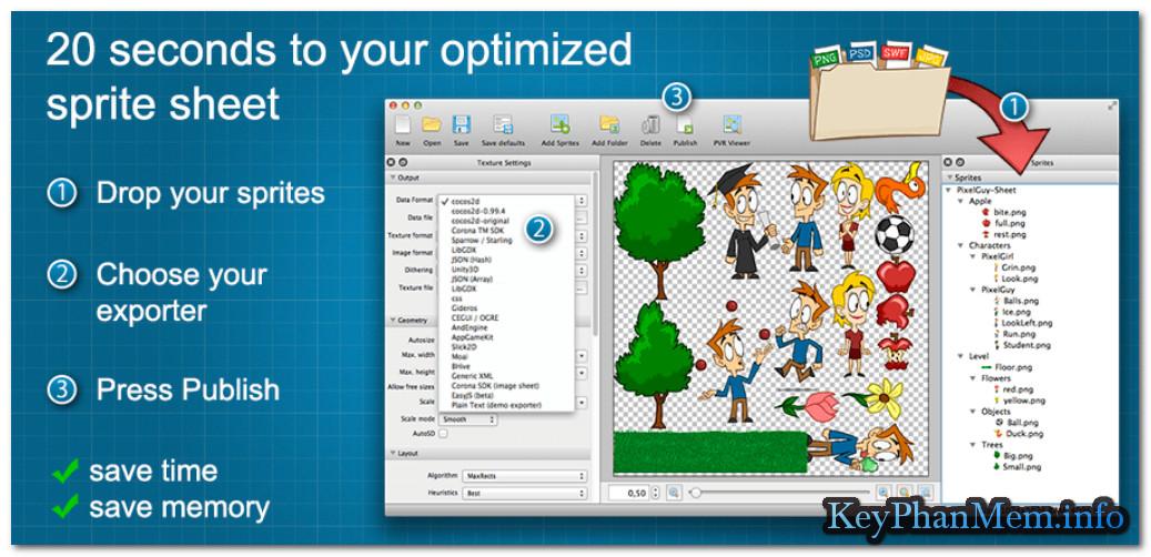 CodeAndWeb TexturePacker Pro 4.8.1 Full Key, Phần mềm hỗ trợ làm games cao cấp