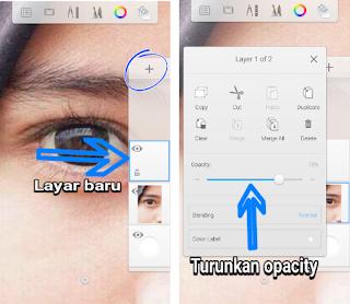 cara membuat mata dan alis
