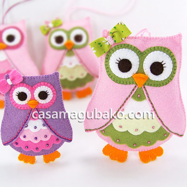 Owl Ornament and Embellishment by casamagubako.com