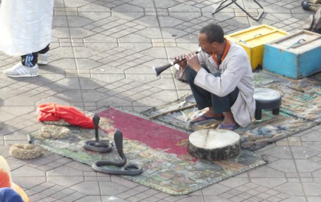 Marrakesch - Schlangenbeschwörer am Djemaa El Fna