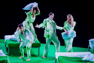 Britten: A Midsummer Night's Dream - David Webb, Clare Presland, Matthew Durkan, Eleanor Dennis - English National Opera (Photo Robert Workman)