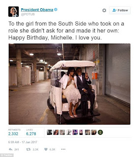 Barack Obama Tweets Adorable Birthday Message to Wife Michelle