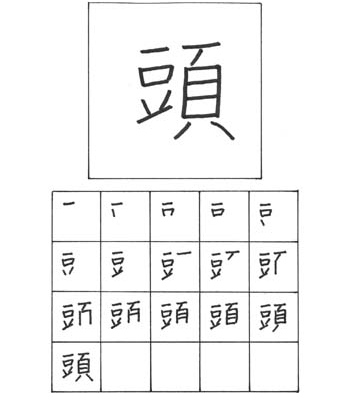 kanji kepala