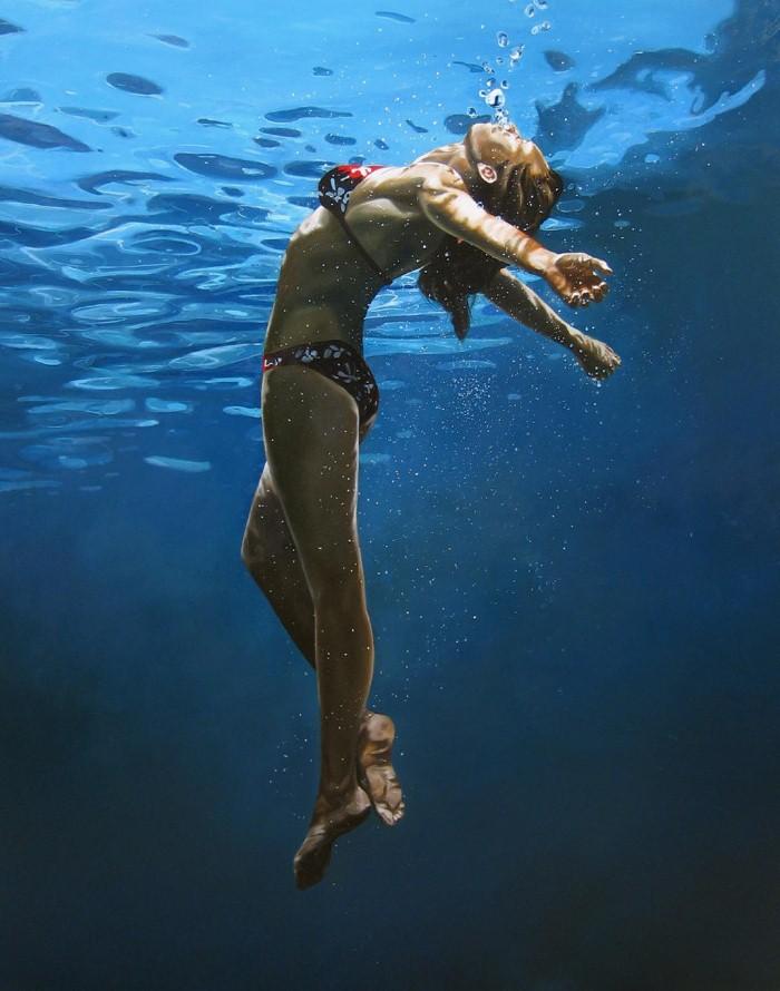 Eric Zener. Художник-самоучка. Вода и люди 11