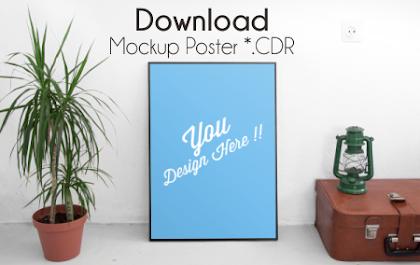 Download 7 Mockup Poster File CDR Gratis
