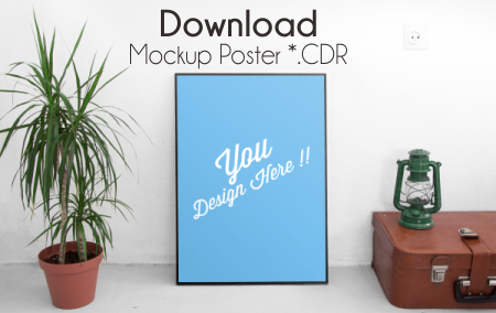 Download 7 Mockup Poster File CDR Gratis