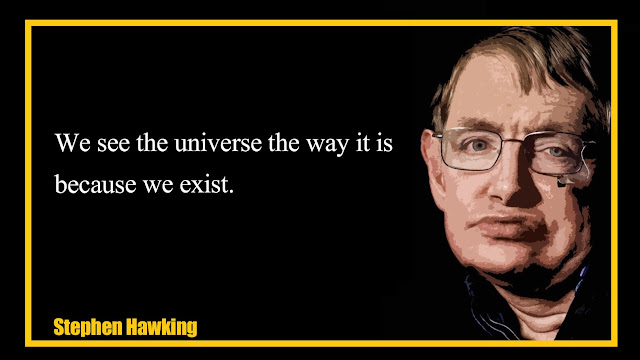 We see the universe the way it is because we exist Stephen Hawking  Quotes
