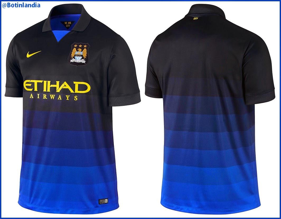 Nueva camiseta suplente del Manchester City para la temporada 2014 ... a92fca4338a34