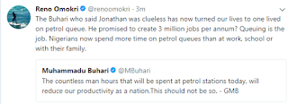 Reno Omokri Tweet on Petrol