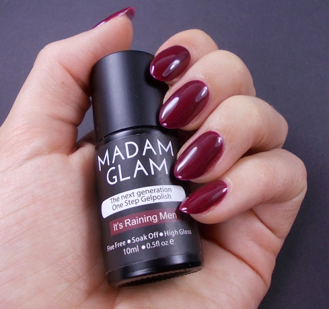Madam Glam It's raining men gel one step polish review swatch 1