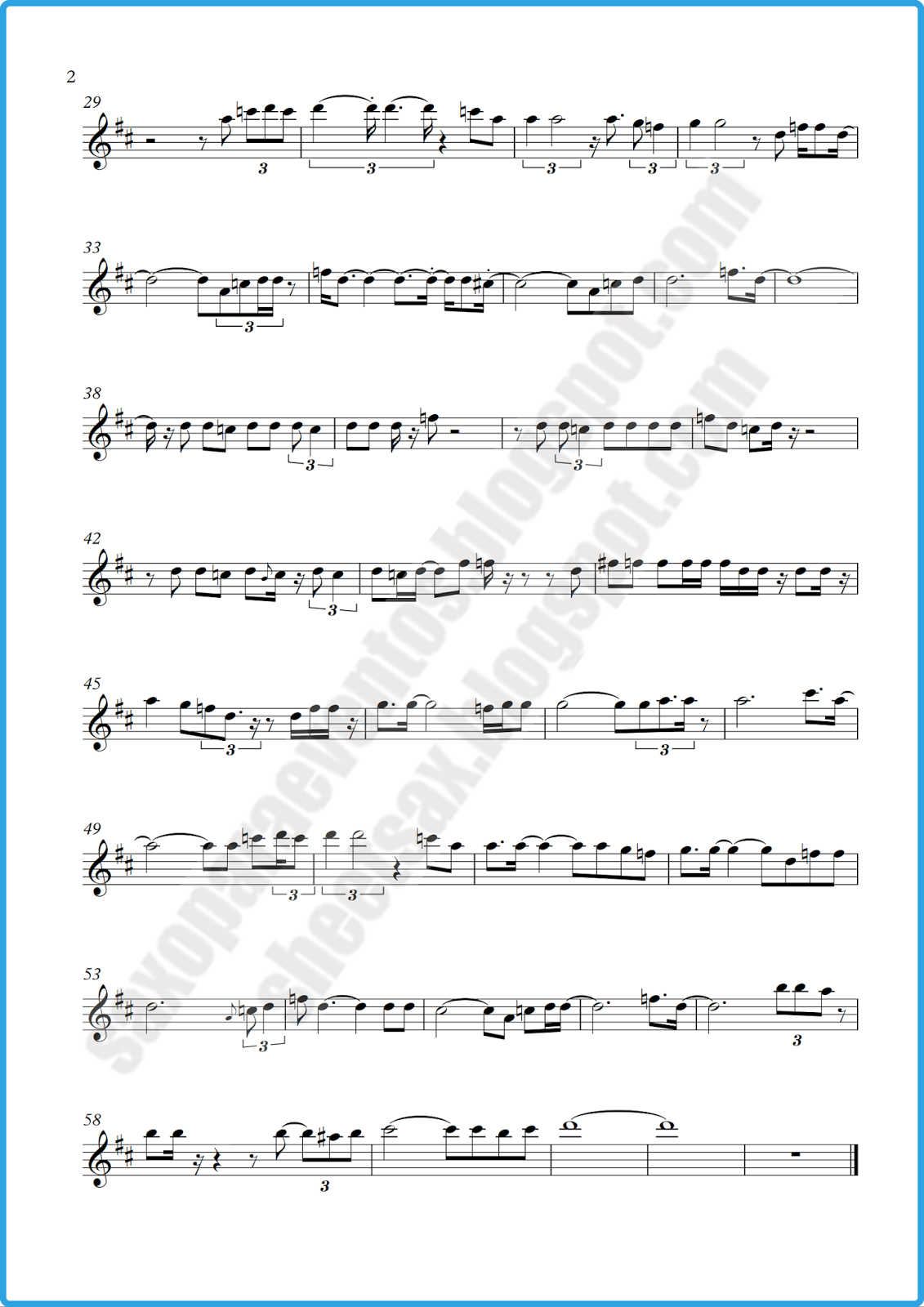 Mean Woman Blues by Ray Charles (Free sheet music)   Free sheet