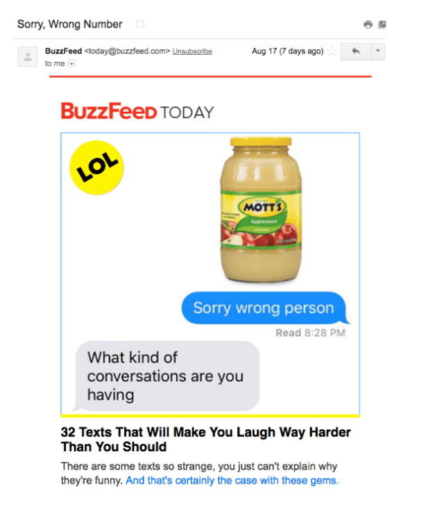 Email Marketing Campaigns -  BuzzFeed