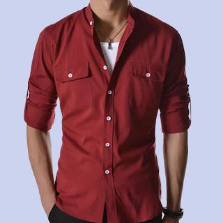 Kırmızı gömlek kombin
