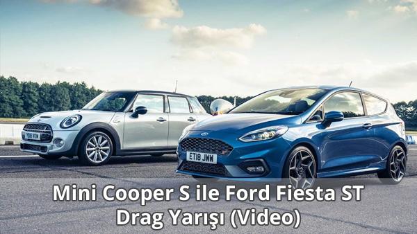 Mini Cooper S ile Ford Fiesta ST Drag Yarışı İzle