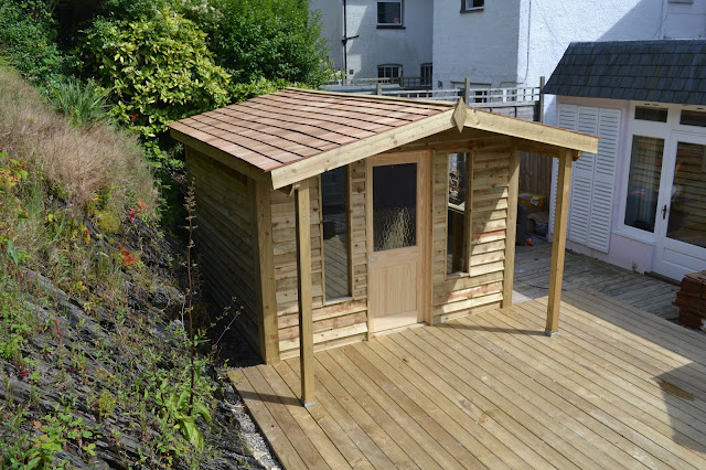 Cedar roof shed