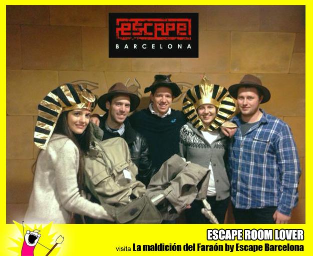 """Opinión sobre escape room: Escape Barcelona """"La maldición del Faraón"""" - Barcelona"""