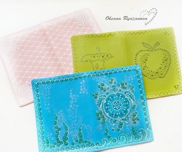 Обложка на паспорт, скрапбукинг, обложка для паспорта, обложка кожа