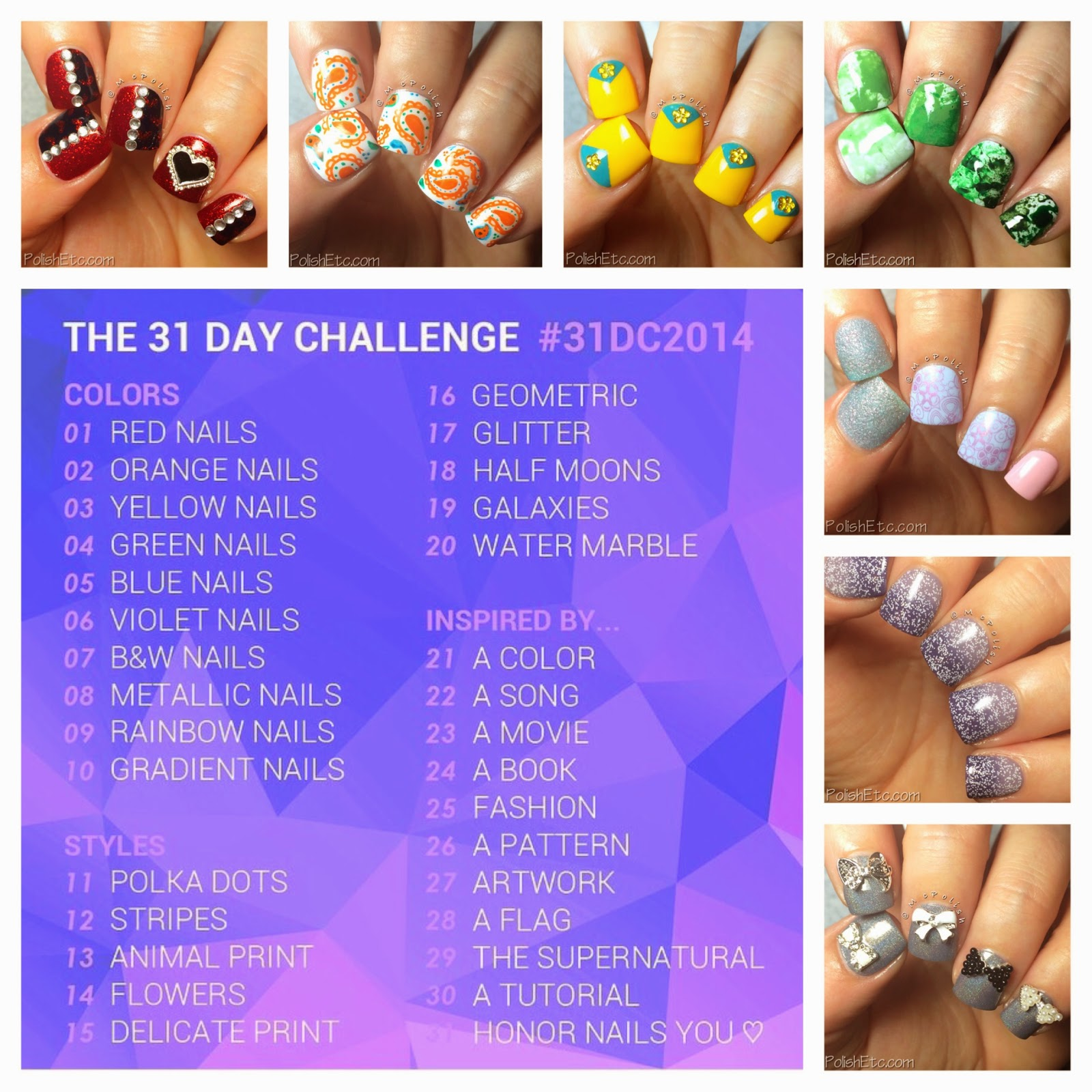 #31dc2014 - 31 Day Nail Art Challenge 2014 by McPolish