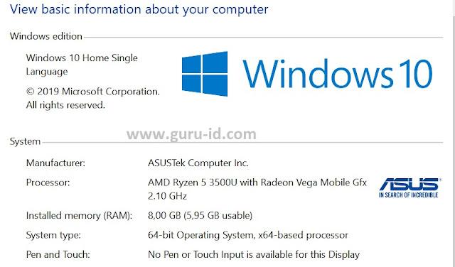 gambar spesifikasi ASUS Vivobook Ultra A412DA