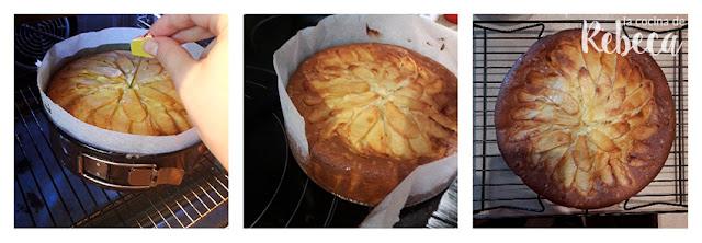Receta de bizcocho de queso y manzana 05