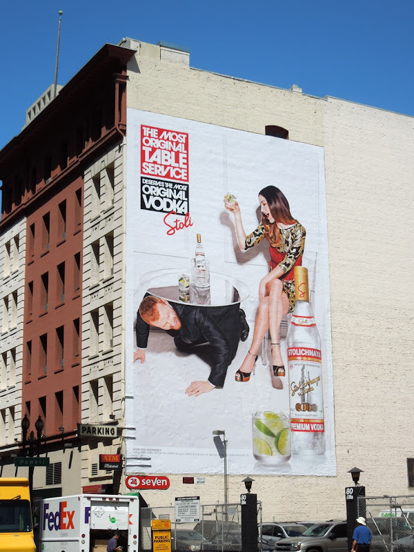 Stoli Vodka original table service billboard