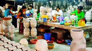 Quy trình sản xuất gốm sứ Bình Dương