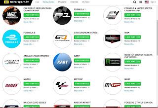 Motorsports live stream