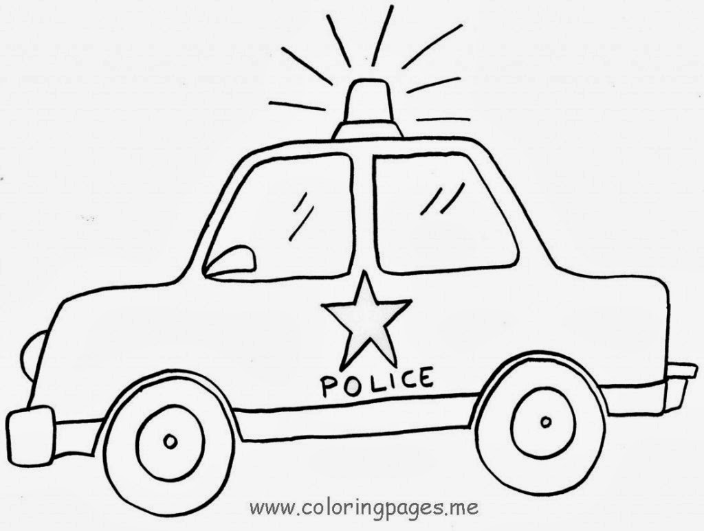 Desenhos Para Pintar Carros De Policia Para Colorir