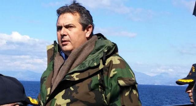 Π. Καμμένος: Αν συμβεί ατύχημα, την ευθύνη φέρει η Τουρκία